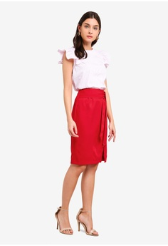 76f9d1424994 38% OFF ZALORA Soft Tailored Self Tie Skirt S$ 39.90 NOW S$ 24.90 Sizes XS  S M L XL