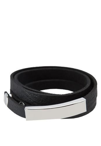 層次纏繞皮革手esprit outlet 高雄環, 飾品配件, 手環