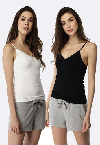 Deshabille black and white My Everything Cami 2 Pack DE081US0HCC8SG_1