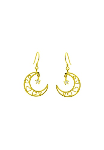 LYCKA gold LDR1281 S925 Silver Classy Crescent Drop Earrings A2871ACBE06106GS_1