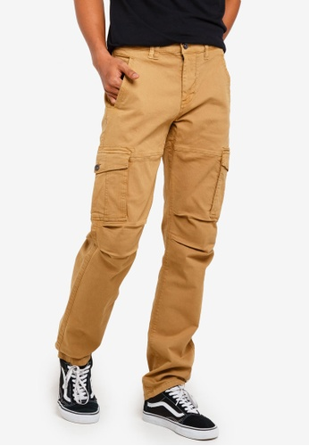 9d1bf3f109f329 threads by the produce brown Stretch Cargo Pants 1ED7CAA8746982GS_1