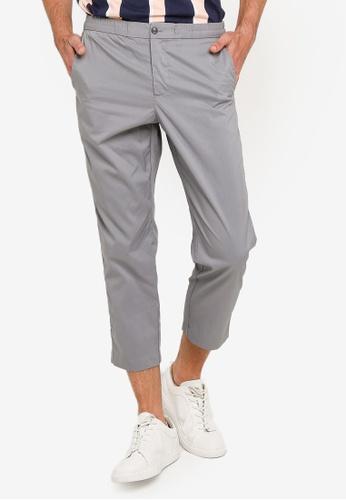 GLOBAL WORK grey Lightweight Tapered Pants 6E44CAA19AE7F7GS_1
