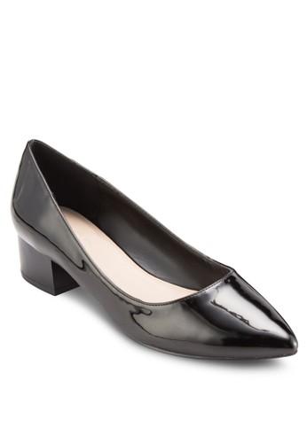 Dezalora鞋子評價loris 尖頭粗跟鞋, 女鞋, 鞋
