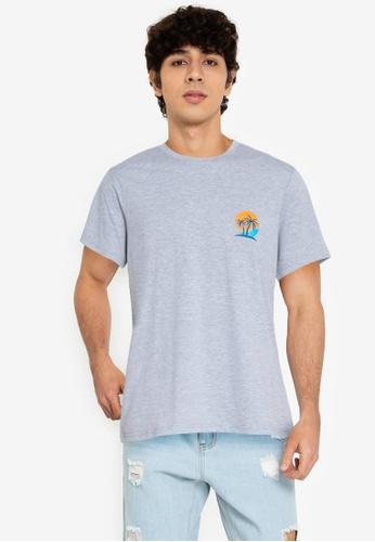 ZALORA BASICS grey Sunset T-Shirt 9862FAA10AB934GS_1