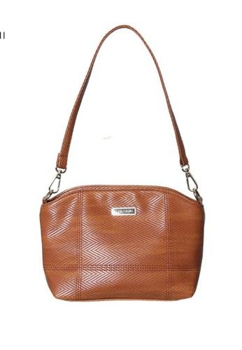 Verchini brown Verchini Embellished Zip Shoulder Bag 3E0A9AC8B067C4GS_1