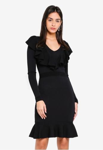 Y.A.S black Aya Long Sleeve Knit Dress 31EE1AA343CFA3GS_1