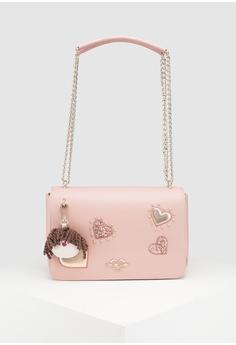 5b64b717638a Love Moschino pink Textured Grain Shoulder Bag 4A4C6AC718D99BGS 1