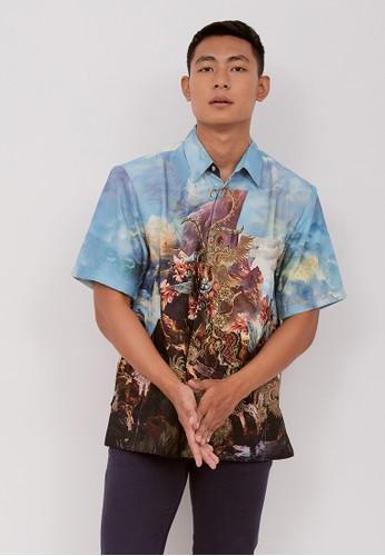 Batik Wibowo blue Tanwira Batik Shirt 2BA71AA9918040GS_1