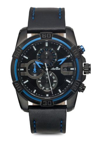 ellesse black and blue Men's Chronograph Quartz Watch EL595AC84ZXVSG_1
