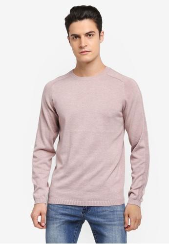 Selected Homme 灰色 長袖圓領針織衫 35266AA7656250GS_1