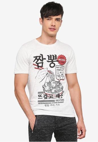 Only & Sons 白色 短袖印花T恤 2C3ADAA0EC598DGS_1