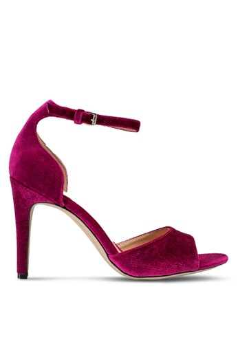 Dorothy Perkins pink Magenta Velvet Shay Heeled Sandals DO816SH14UINMY_1