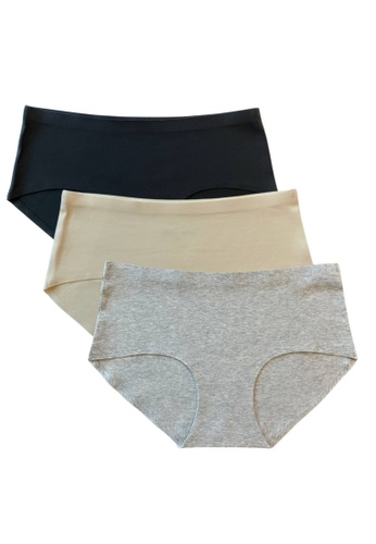 3BULBS 3bulbs Seamless Cotton Panties in Pack of 3 E1F5EUSEDFA79AGS_1