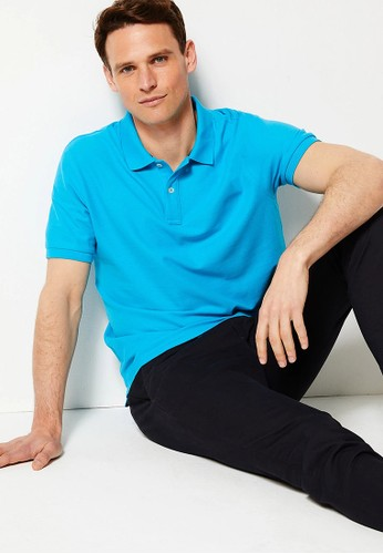 MARKS & SPENCER multi Pure Cotton Polo Shirt D762CAA178301AGS_1