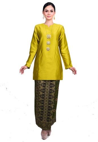 Alinea Tafeta Kurung Riau from KAMDAR in Green