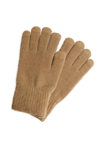 MANGO Man brown Touchscreen Knitted Gloves FF972AC725B7E0GS_1