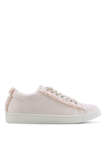 ZALORA pink Sneakers With Frayed Detail 1E22FSH2F3FAEBGS_1