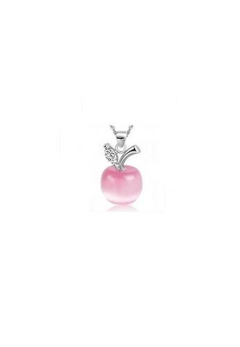 Elfi pink and silver Elfi Genuine 925 Sterling Silver Necklace Pendant SP13 EL186AC14KFDMY_1
