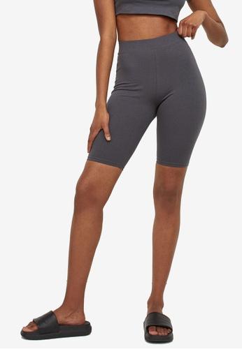 H&M grey Cotton Jersey Cycling Shorts E2251AA02D7637GS_1