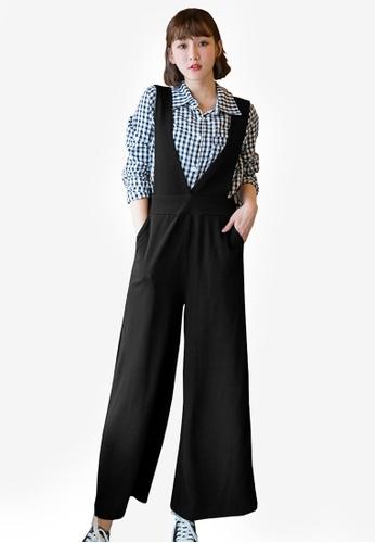 Tokichoi black High Waisted Jumpsuit B6B30AAB3BA184GS_1