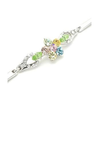 Glamorousky multi Flourishing Flower Bracelet with Multi-colour Austrian Element Crystals 25421AC46C30FFGS_1