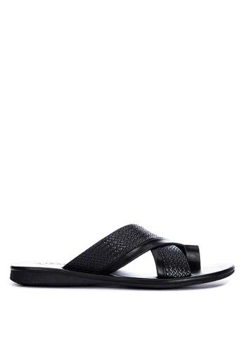Alberto black Criss Cross Sandals BDEA4SHC577CECGS_1