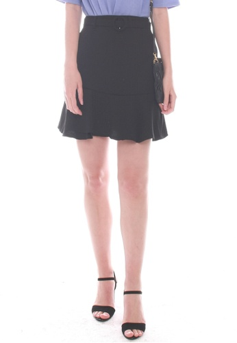 JOVET black Fluted Hem Skirt F52C2AAA19C569GS_1