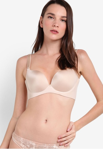 Impression beige Underwired Seamless Bra IM679US34TPLMY_1