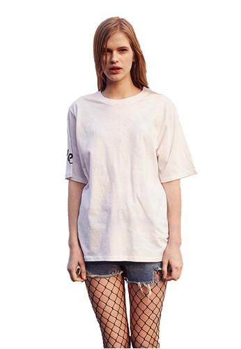 esprit 台灣17SS蛇紋印花白色T恤, 服飾, 上衣
