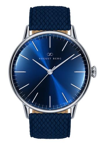 August Berg blue Serenity Deep Blue Silver - Blue Perlon 40MM 10F42ACE294DC5GS_1