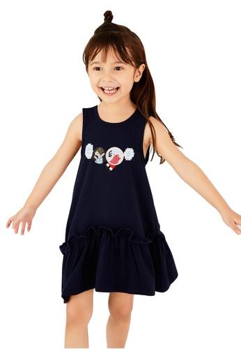 M.Latin navy Sleeveless Short Dress with Embroidery 16516KA1E8804AGS_1