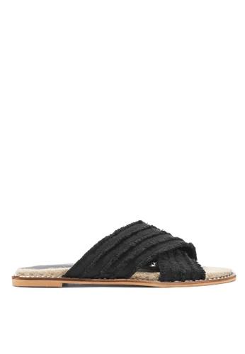 TOPSHOP black Hibiscus Espadrille Sandals 86332SH13E22A1GS_1