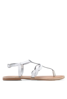 c6992f15116 Dorothy Perkins white White Leather Jessie Sandals 0C4C9SH45C492BGS 1
