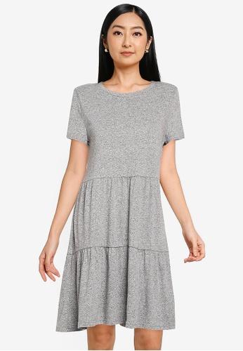 GAP grey Ss Tiered Dress 26E9FAA13FE056GS_1