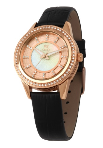 CLETA black and gold Diletto Watch CL733AC79FUAPH_1