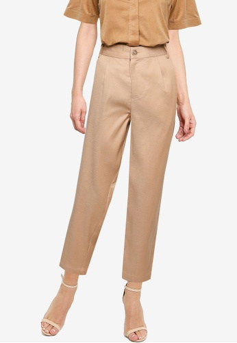 The Duo brown 3/4 Tapered Pants F1D8AAACF09069GS_1