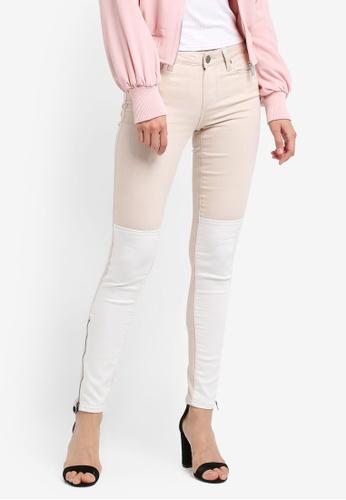 Paige white Cara Zip Ultra Skinny Jeans SO640AA0GOOVSG_1