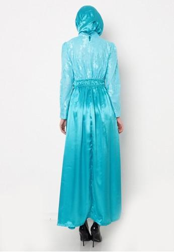 Jual Sabaa Shareen Lace Combined Satin Maxi Dress Original