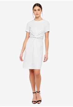 46d964ad5c 35% OFF FORCAST Caesar Twist Front Dress S  101.90 NOW S  66.24 Available  in several sizes