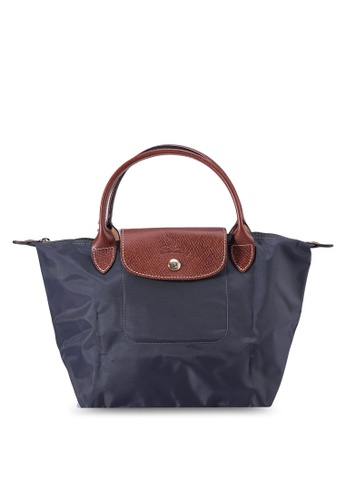 LONGCHAMP grey and green Le Pliage Top Handle Bag S (zt) 572B9AC83A179EGS_1