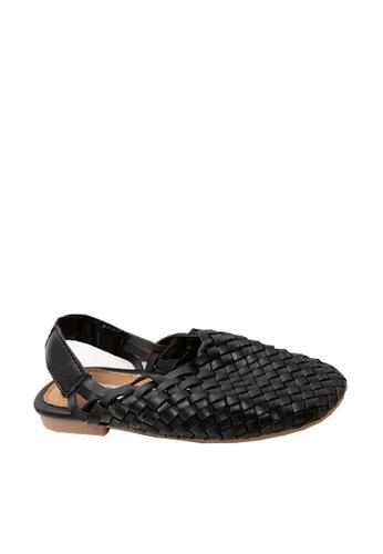 Twenty Eight Shoes 黑色 VANSA 編織涼鞋 VSK-S1070 D35A5KS146B68BGS_1