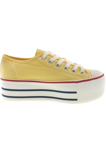 Maxstar yellow Maxstar Women's C50 6 Holes Platform Canvas Low Top Sneakers US Women Size MA164SH58PSBSG_1