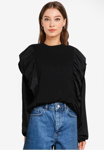 Vero Moda black Danna Long Sleeves Sweatshirt E5503AA7EFA537GS_1