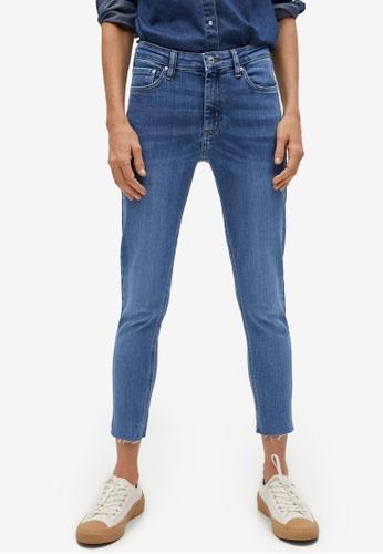Mango blue Crop Skinny Isa Jeans A65A4AAE5AE184GS_1