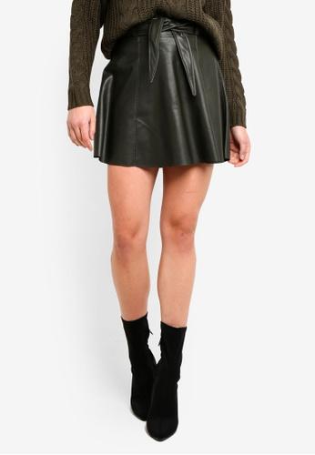 Vero Moda green Eldora Juhuu Faux Leather Skirt 1B747AA5399134GS_1