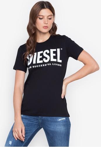 Diesel black T-Sily-Wx T-Shirt 3633DAA9319A3DGS_1