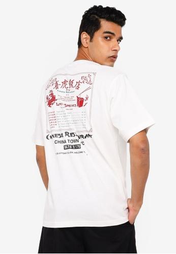 RAGEBLUE white Graphic T-Shirt 23E8AAA14F2F76GS_1