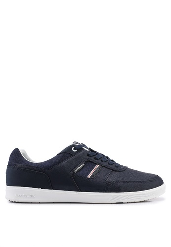 Jack & Jones navy Blade Navy Leather Sneakers 38E89SH050FD50GS_1