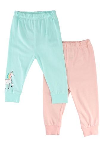 LC Waikiki pink 2-pack Baby Girl's Pyjamas Bottom F165BKA5E703BAGS_1