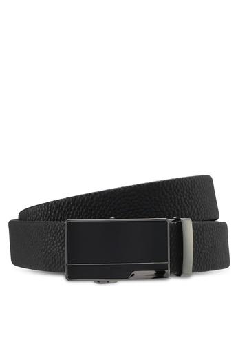 UniqTee black Classic Genuine Leather Belt UN097AC0SYSPMY_1